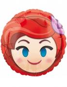 Ariel™ Emoji™ Alumium Ballon beige-blau-rot 43 cm