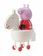 Peppa Wutz™-Spielfigur Dekofigur weiss-rot-rosa