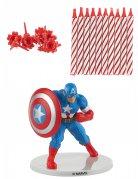 Captain America™-Kuchendekoset 21-teilig blau-rot-weiss