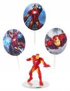 Iron Man™-Kuchendekoset Marvel-Lizenzartikel 4-teilig bunt