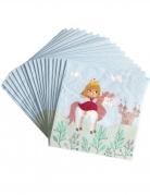 Prinzessinnen-Servietten 20 Stück bunt 33 x 33 cm