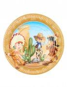 6 Western Partyteller Cowboy und Indianer
