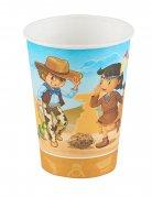 6 Western Pappbecher Cowboy und Indianer