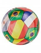 Fussball-Pappteller 6 Stück bunt 23cm