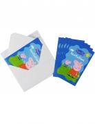 Einladungskarten Peppa Wutz™ bunt 6Stück 10x15cm