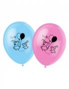 Peppa Wutz™ Ballons 6 Stück rosa-blau