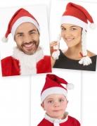 Weihnachtsmann-Mützenset rot-weiss