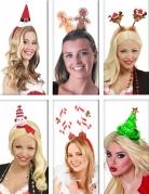 Weihnachts-Haarreifen-Set für Erwachsene bunt