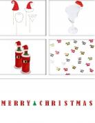 1 Weihnachts-Dekorations-Set