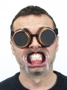 5 Mundklammern - Kunststoff - transparent
