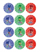 PJ Masks™-Kuchendeko Catboy Gecko Eulette 10 Stück blau-rot-grün 8x5cm