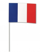 Frankreich-Papierfahne Länder-Fanartikel blau-weiss-rot 14x21cm
