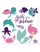 Meerjungfrauen-Tattoos blau-lila