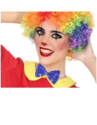 Clown-Fliege mit Pailletten Kostüm-Accessoire blau