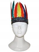Feder-Kopfschmuck Indianer-Kostümaccessoire für Kinder bunt