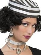 Gefangenen-Ohrringe Schloss-Ohrringe Kostümaccessoire silber-schwarz