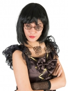 Steampunk-Brille rund Kostüm-Accessoire bronze