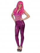 Meerjungfrau-Leggings für Damen Accessoire pink-schwarz