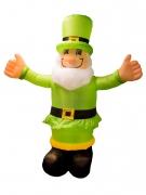 Aufblasbarer Kobold St. Patrick´s Day Deko grün 180cm