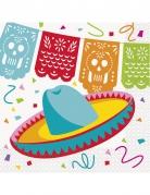 Mexikaner-Servietten Mexiko-Partydeko 16 Stück bunt 33x33cm