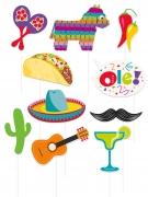 Fotozubehör-Set für Mexiko-Mottopartys 10-teilig bunt