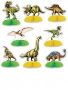 8 Mini-Dinosaurier als Tischdeko