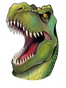 Dinosaurierkopf-Wandmotiv - Tonkarton - 86 cm