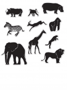 Wandbilder Deko-Set 10 Dschungel-Tiere