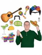 Mexiko-Party-Set - 13-teilig - Photobooth