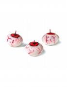 Augen-Kerze Halloween-Kerze rot-weiss 4cm