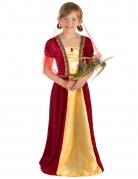 Mittelalterliche Prinzessin Mädchenkostüm beige-rot