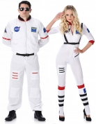 Astronauten Paarkostüm-Set weiss-blau-rot