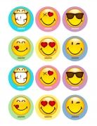 Essbare Dekoration Smiley World 12-teilig 5 x 8 cm