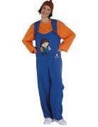 Mainzelmännchen™ Anton Kostüm für Erwachsene orange-blau-braun