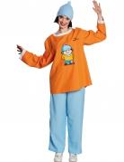 Mainzelmännchen™ Conni Kostüm für Erwachsene orange-hellblau