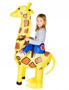 Aufblasbare Giraffe Carry-Me-Kinderkostüm gelb-braun-blau