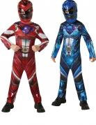 Power Rangers™-Paarkostüm für Kinder rot-blau