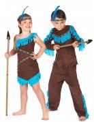 Indianer-Paarkostüm für Mädchen und Jungen türkis-braun