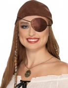 Augenklappe Pirat braun