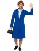 Premierministerin-Kostüm für Erwachsene blau-weiss