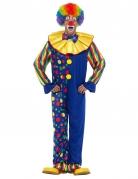 Clownkostüm für Erwachsene bunt