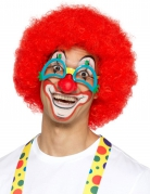 Clown-Brille mit Nase Kostüm-Accessoire blau-rot