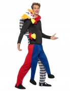 Carry-Me-Kostüm Psycho-Clown Halloween bunt