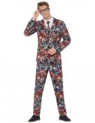 Horrorclown-Anzug Halloween-Herrenanzug bunt