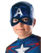 Captain America™-Halbmaske für Kinder Marvel-Lizenzmaske blau