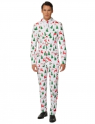 Mr. Merry Xmas Herrenanzug von Suitmeister™ weiss-grün-rot