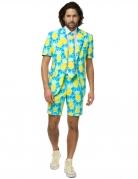 Ananas-Sommeranzug für Herren von Opposuits™ gelb-blau-weiss