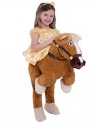 Belle™-Prinzessinenkostüm mit Pferd Morphsuits™ Karneval braun-gelb