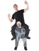 Carry-Me-Zombiekostüm Morphsuits™ Halloween-Kostüm schwarz-grau