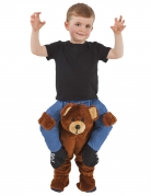 Teddybär Carry-Me Kostüm von Morphsuits™ blau-braun-schwarz